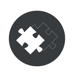 Monochrome round matching puzzle icon vector