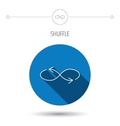 Shuffle icon mixed arrows sign vector