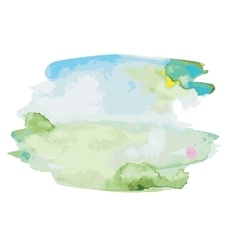 Abstract watercolor landscape vector