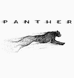 Attack motion of panther vector