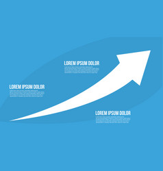 Business infographic with growth arrow vector