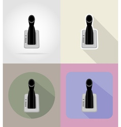 Car equipment flat icons 04 vector