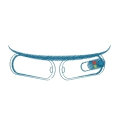 Cartoon ar glasses virtual reality device vector