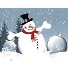 Cartoon snowman vector image vector image