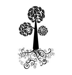 Cute tree icon vector