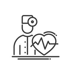 Doctor cardiologist - modern line design vector