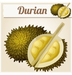 Durian fruit cartoon icon series of food vector