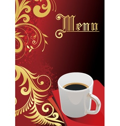 elegant coffee vector image