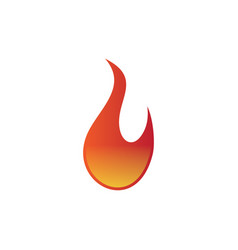 flame logo vector image vector image