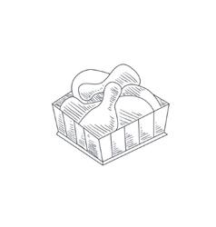 Fried chicken legs hand drawn sketch vector