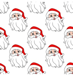 Funny Santa seamless pattern background vector image vector image