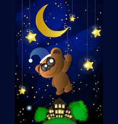 good night moon vector image