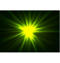 Green glowing shiny beams abstract background vector