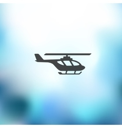 Helicopter icon on blurred background vector