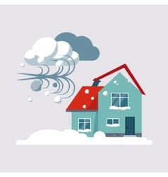 Hurricane insurance vector
