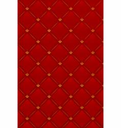 illustration of red leather background vector image