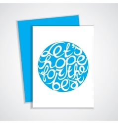 Lettering element in blue color vector image vector image