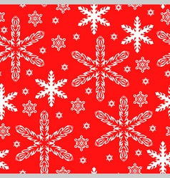 Pattern snow red vector
