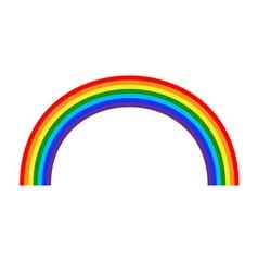 Rainbow icon cartoon 2 vector image vector image
