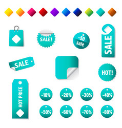 Sale and promotion tag collection eps 10 vector