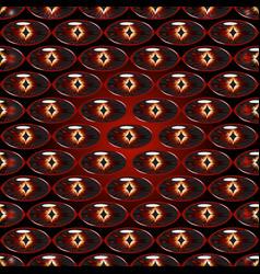 Seamless pattern - dragon eyes vector