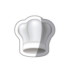 Sticker white silhouette with chef hat vector