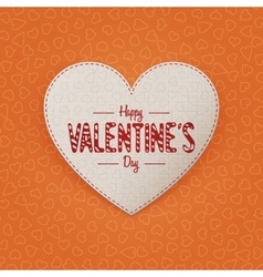 Valentines Day realistic greeting Heart Card vector image