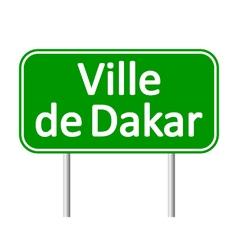 Ville de dakar road sign vector