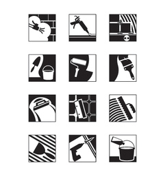 Construction adhesives and mixtures vector image