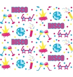 Disco club party seamless pattern vector image