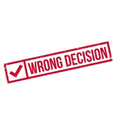 Wrong decision rubber stamp vector