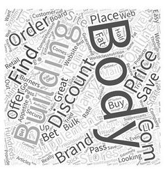 Discount body building supplements word cloud vector