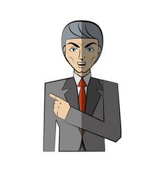 cartoon man character concept vector image