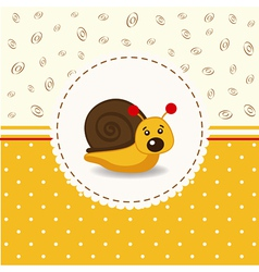 little snail baby vector image