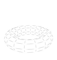 Wireframe Polygonal 3D Torus vector image