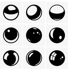 Spheres vector image