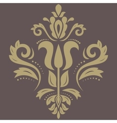 Orient abstract golden pattern vector