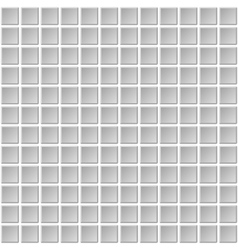 Seamless mosaic tiles texture with white filling vector