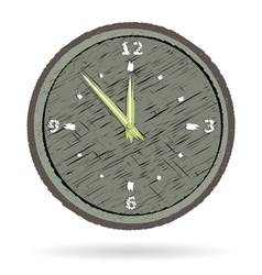 Old cracked surface clock vector