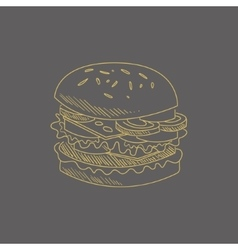 Burger hand drawn sketch vector