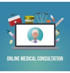 Medical style poster vector