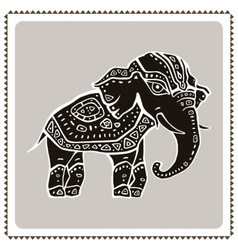 Elephant Indian style vector image