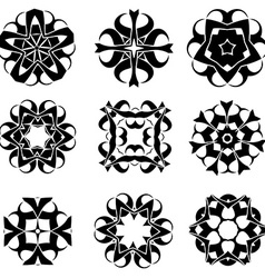 Abstract ornament set vector