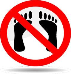 Ban foot print vector image