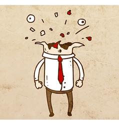 Bursting Head Cartoon vector image vector image