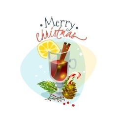 Christmas mulled wine vector