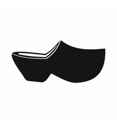 Clogs icon simple style vector