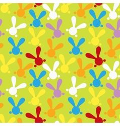 Colorful seamless patern with easter bunny vector