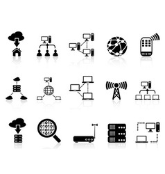 computer communication icons set vector image vector image
