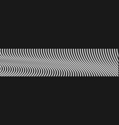 Contrast black and white wavy lines web header vector